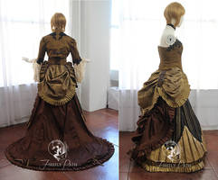 Steampunk Bridal Gown (Back and Side View)