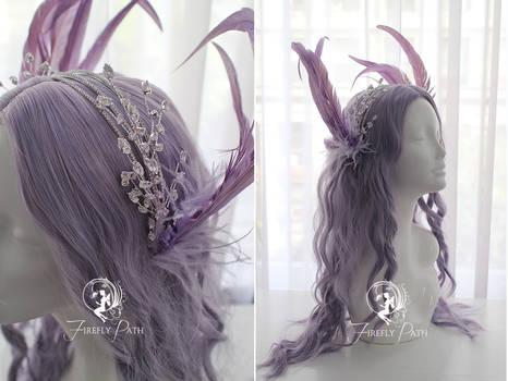 Lavender Wings Headress