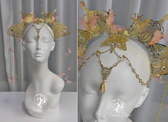 Gilded Butterfly Headress