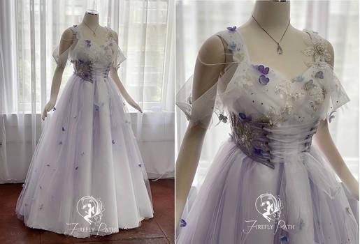 Flower Cloud Bridal Gown