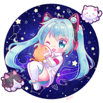Space Miku by KuaTakeru