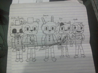 FNaF- the gang by fivestarter