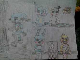 Fnaf comic pg 1 by fivestarter