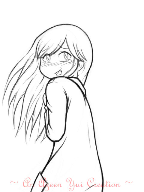 Scared Face Line Drawing : Scared reyna line art by azeen on deviantart