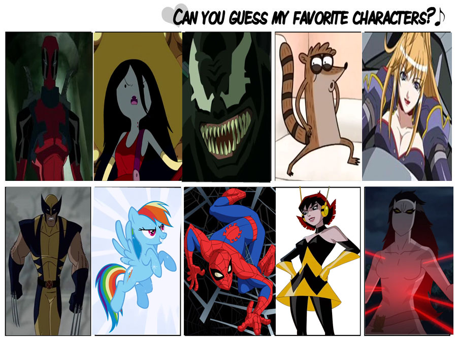 My Favorite Characters Pt. 1 by markellbarnes360