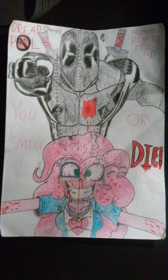 Teenage Dreadpool and Human Pinkie Pie by markellbarnes360