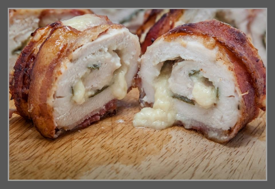 Bacon Wrapped Chicken 02 by PoodleSchmoodle