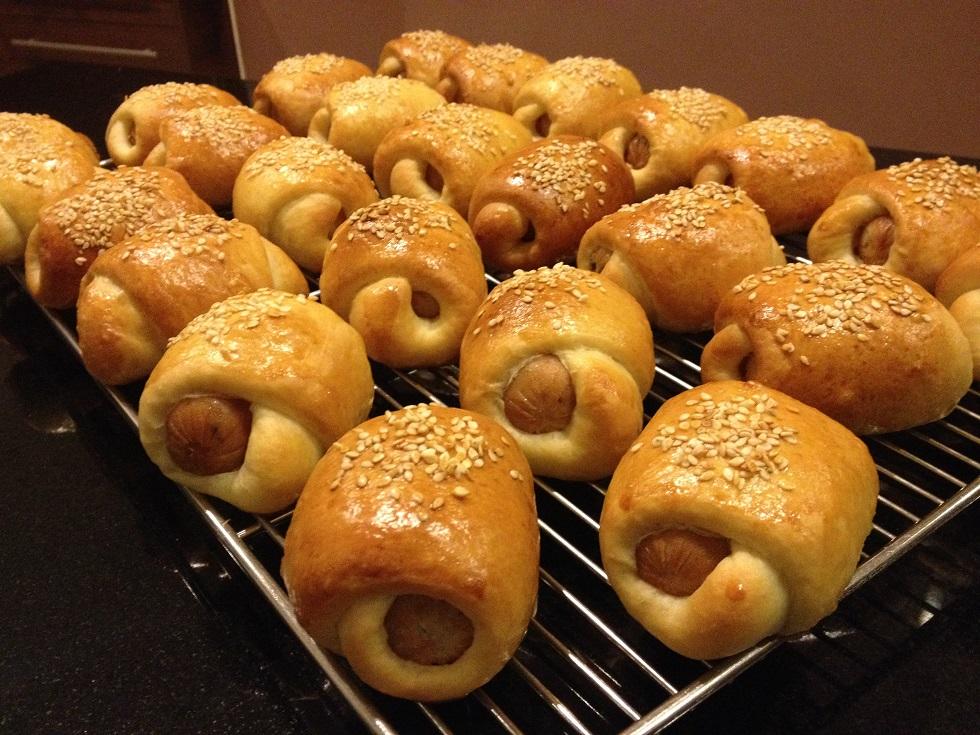 Mini Sausage Buns by PoodleSchmoodle