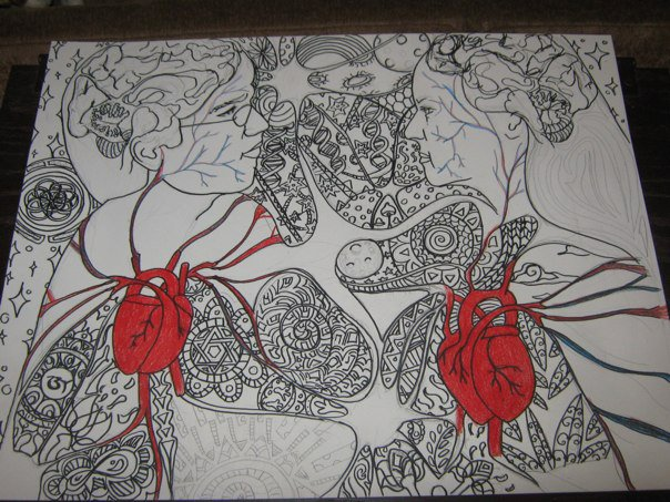 hearts and minds uncolored by schnellzz