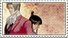 edgeworth/maya stamp by neopuff