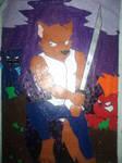 Wolf Warrior (gloss paper work)