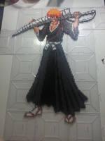Large Ichigo Kurosaki Perler by Bgoodfinger