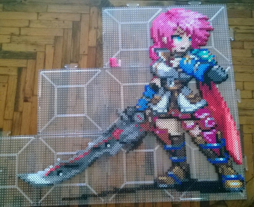 Lightning Final Fantasy XIII perler by Bgoodfinger