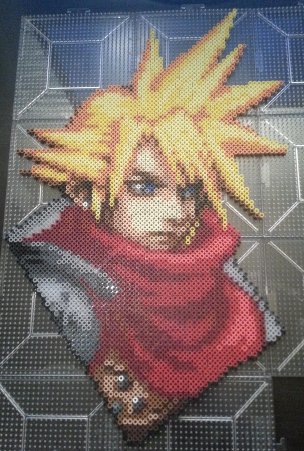 Kingdom Hearts: Chain of Memories - Cloud perler by Bgoodfinger