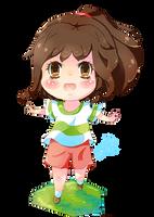 Chihiro 'spirited away' Chibi by KyouKaraa