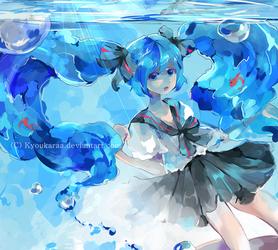 Bottle Miku by KyouKaraa