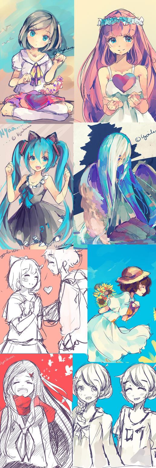 Sketch Dump by KyouKaraa