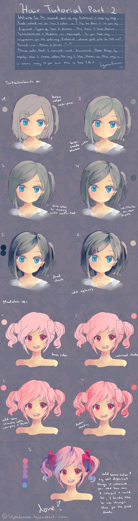 Hair Tutorial Part 2 by KyouKaraa