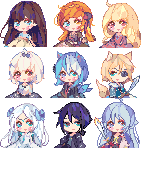 Icon comission batch 1 by KyouKaraa