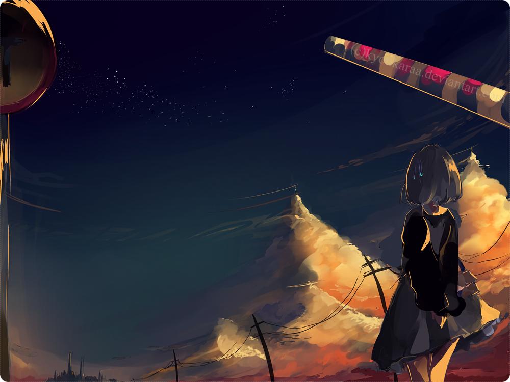 Sunset Wait by KyouKaraa