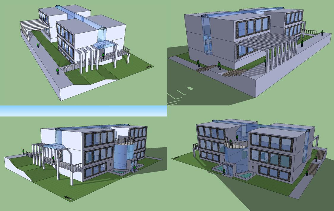 School Building By Mapo12 On Deviantart