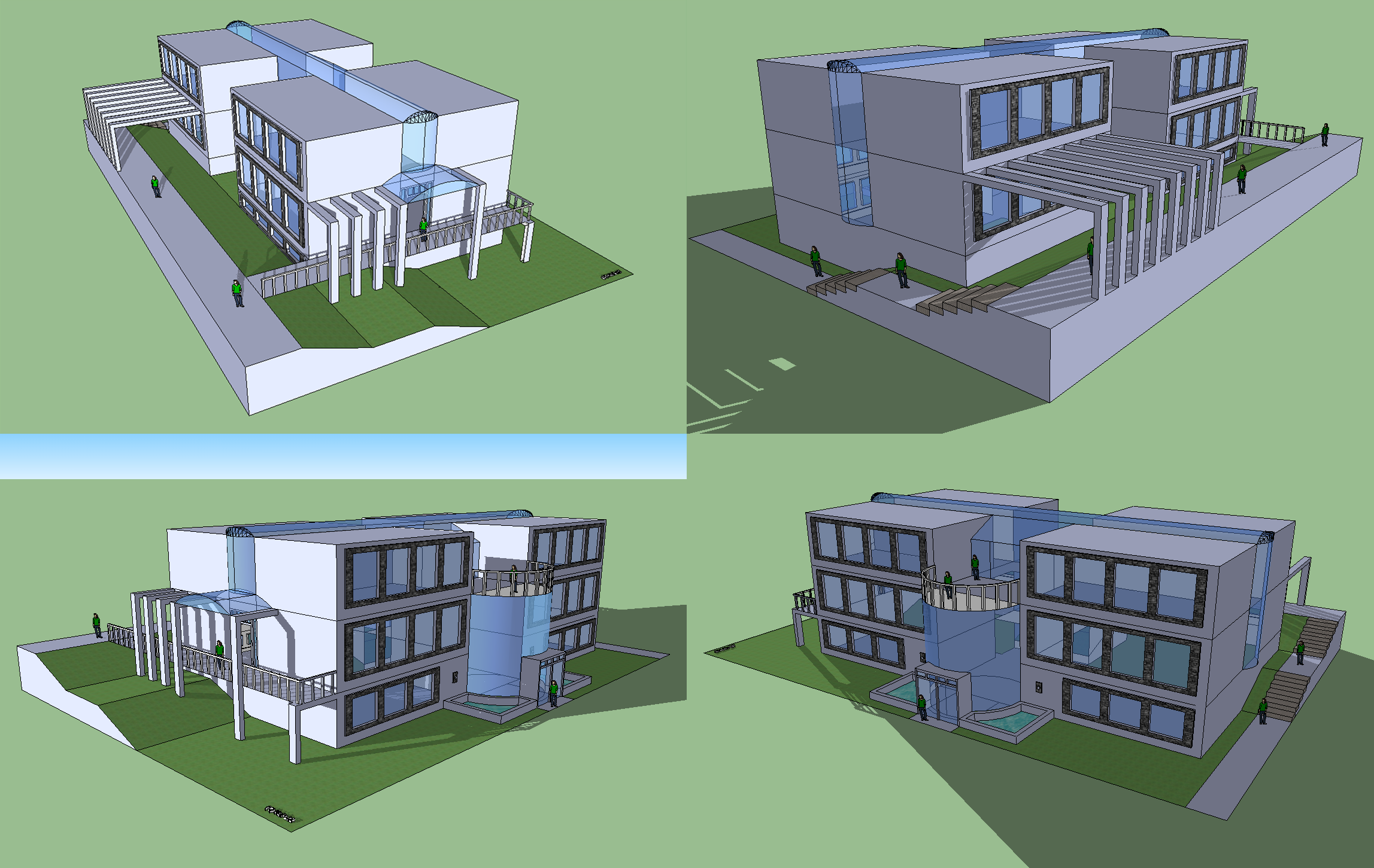 School building by mapo12 on deviantart for House structure design ideas