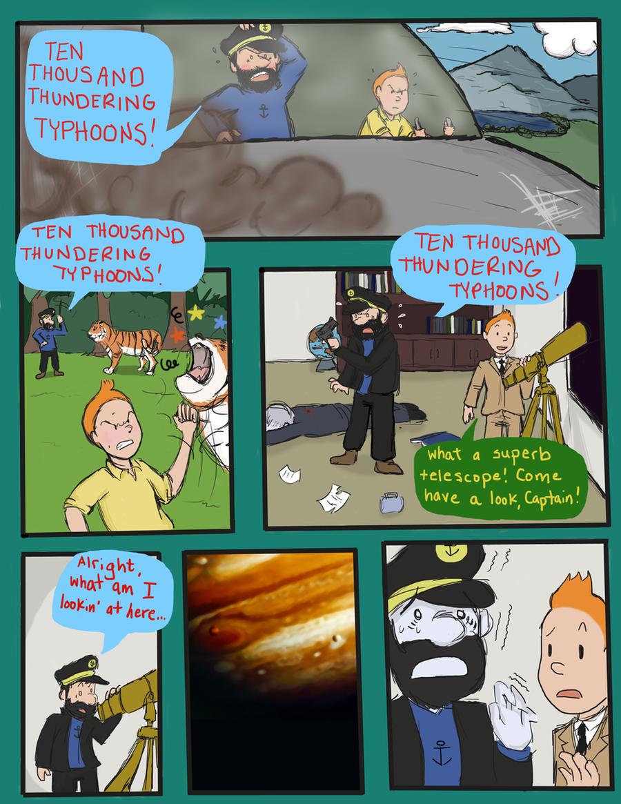 Tintin comic by Magic-Cake-Woman