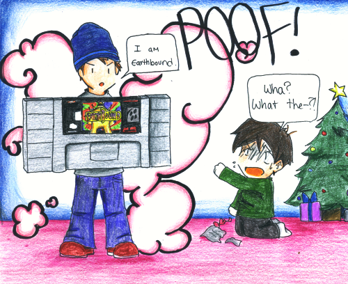 Earthbound 100 Christmas by Magic Cake Woman on DeviantArt