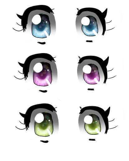 anime eyes transparent: Transparent Eyes. By CarcorMcFly On DeviantArt