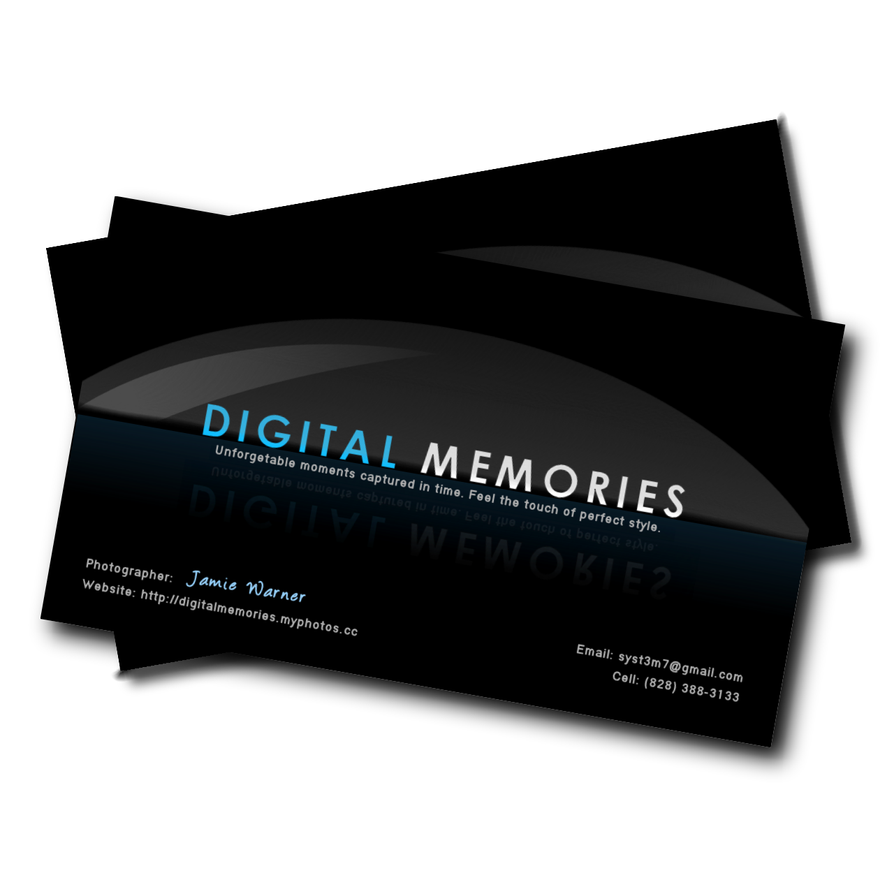 Digital Memories Business Card by accessed on DeviantArt
