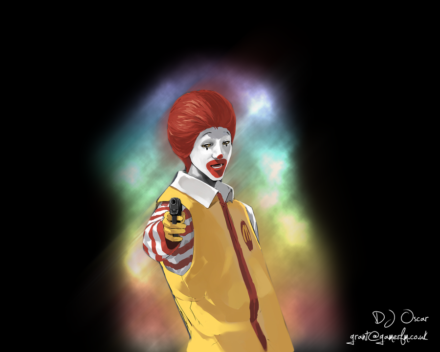 Evil Ronald McDonald Wallpaper By Grant356