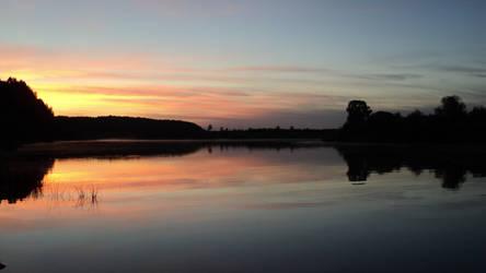 Sunset on Vetluga