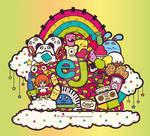 EJ Colored Doodle