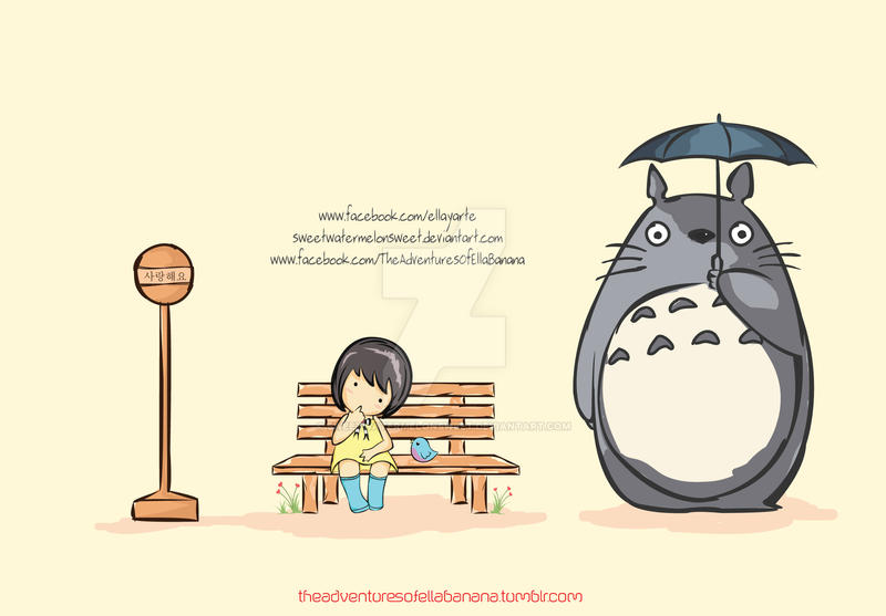 Ella Banana Loves Totoro by sweetWATERMELONsweet on DeviantArt