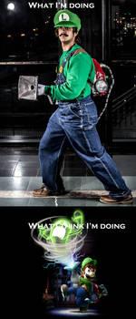 As a Luigi Cosplayer
