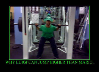 Luigi is the Higher Jumper