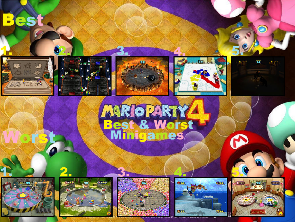 Mario Party 4 Top 5 Best And Worst Minigames by Roro102900