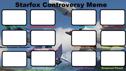 Starfox Controversy Meme Blank by Roro102900