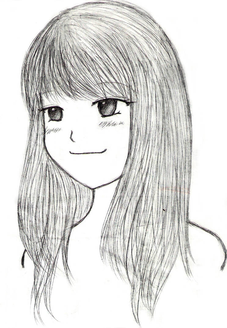 A simple girl sketch by joyinseven