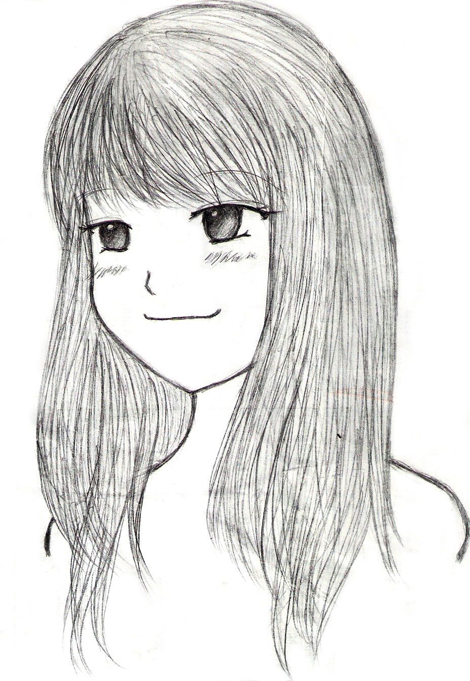 A simple girl sketch by joyinseven a simple girl sketch by joyinseven