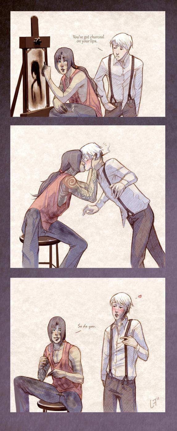 Charcoal Kiss by Eksafael