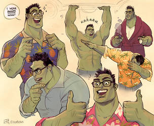 I LOVE SMART HULK by Eksafael