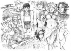 sketches 6.11.09 by Razurichan