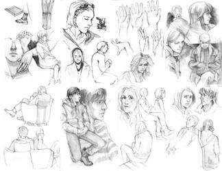 Portfolio sketches 1 by Razurichan