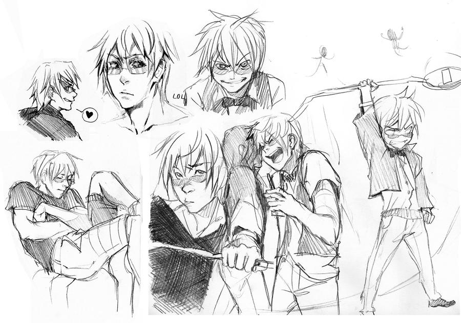 Shizuo sketches by Razuri-the-Sleepless