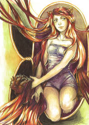 Firefox lady-FC Artbook by Razurichan