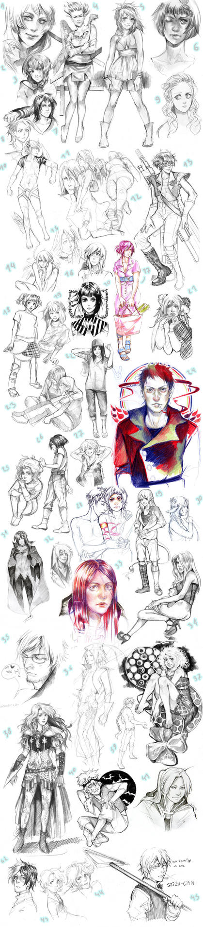 now THIS is a sketchdump XD 1 by Lapis-Razuri