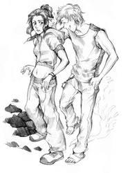 Alexis and Douglas by Razurichan