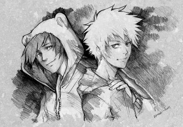 Hibiki and Kenji by Lapis-Razuri