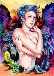 sorrowful rainbow by Razurichan